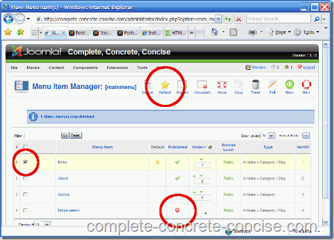 joomla-backend-restore-default-menu
