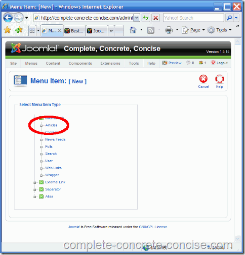 joomla-backend-select-articles-link