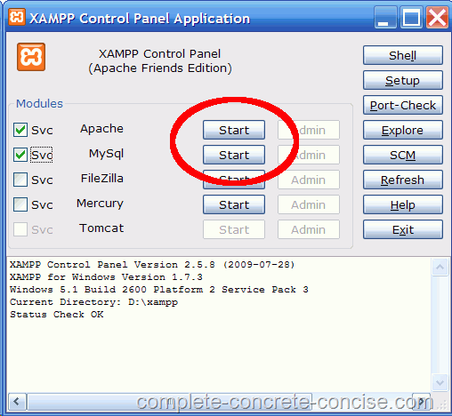 xampp 1.7.3 pour windows 7