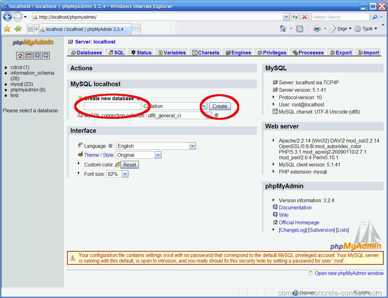 Creating a MySQL Database using XAMPP - Complete, Concrete, Concise