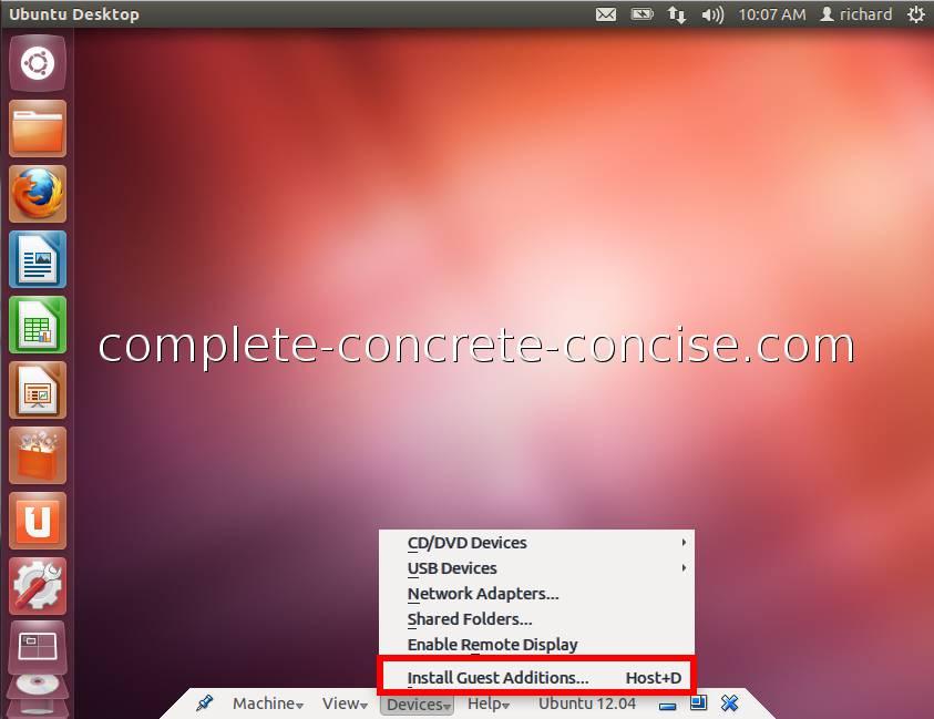 Ubuntu 12 04 - Installing VirtualBox Guest Additions